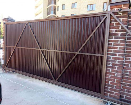 откатные ворота цена с установкой